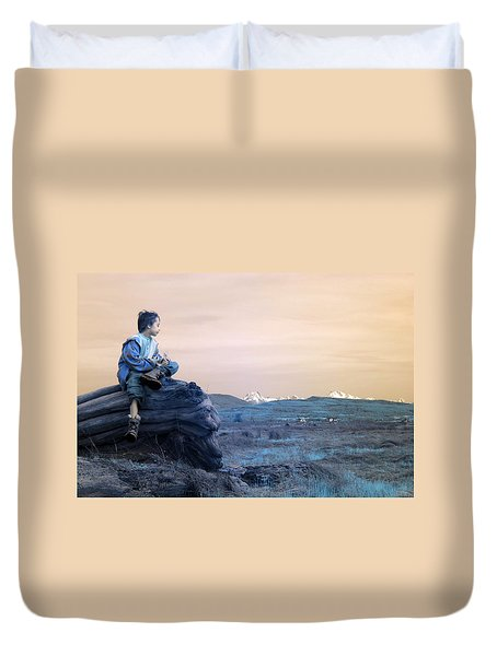 Reflecting Thoughts Duvet Cover