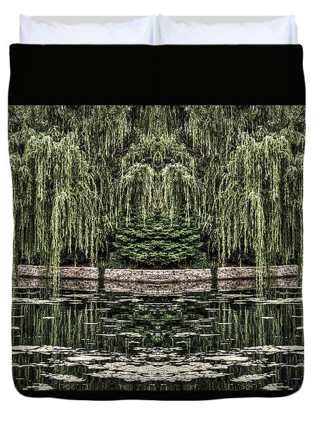Reflecting Willows Duvet Cover