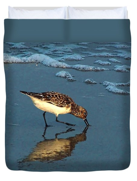 Reflection At Sunset Duvet Cover by Sandi OReilly