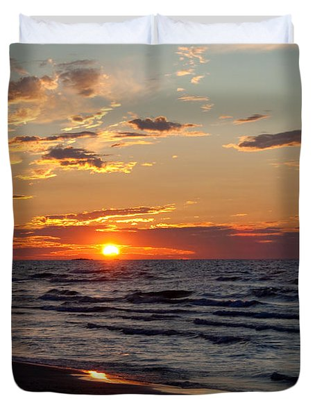 Duvet Cover featuring the photograph Reflection by Barbara McMahon