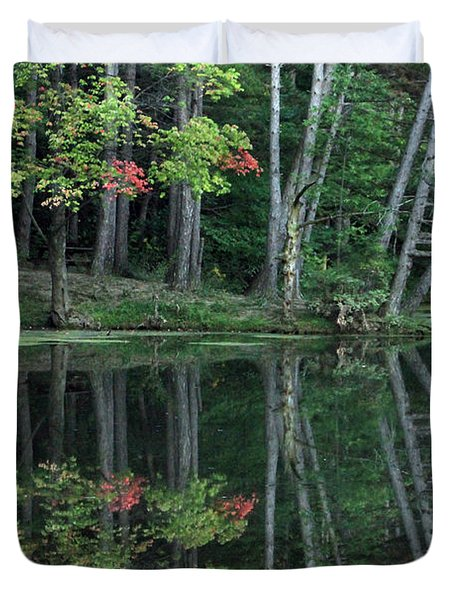 Duvet Cover featuring the photograph Reflection by Bruce Patrick Smith