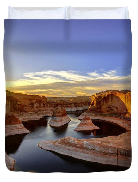Reflection Canyon Sunrise Duvet Cover