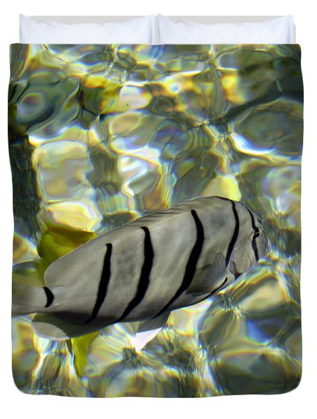 Reflection Fish Duvet Cover