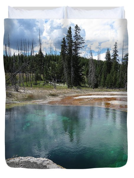 Duvet Cover featuring the photograph Reflection by Laurel Powell