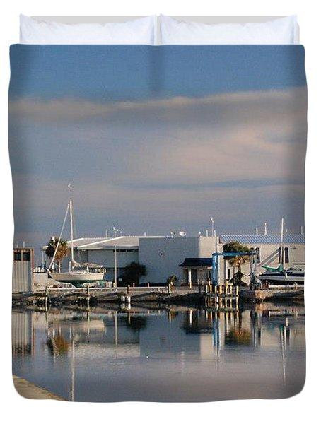 Duvet Cover featuring the photograph Reflection by Leticia Latocki