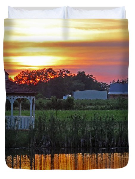 Reflection Of Beauty Duvet Cover
