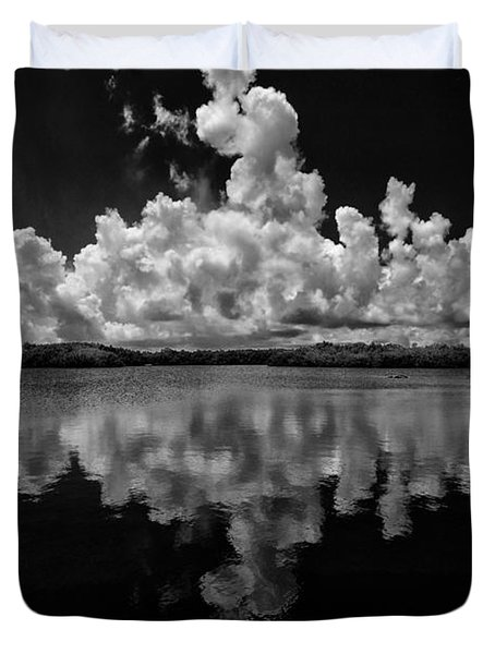 Reflection Of Clouds Duvet Cover by Kevin Cable