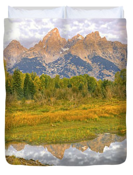Reflection Of Clouds On Water, Beaver Duvet Cover