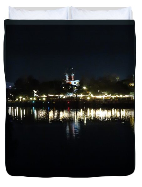 Reflection Of Lights Duvet Cover by Kathy Long