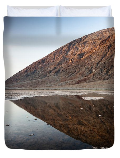 Reflection Of Rock On Water, Western Duvet Cover