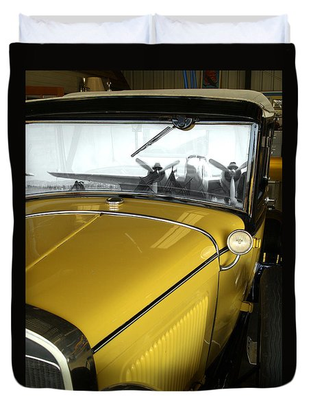 Reflection Of The Past Duvet Cover by Bill Gallagher