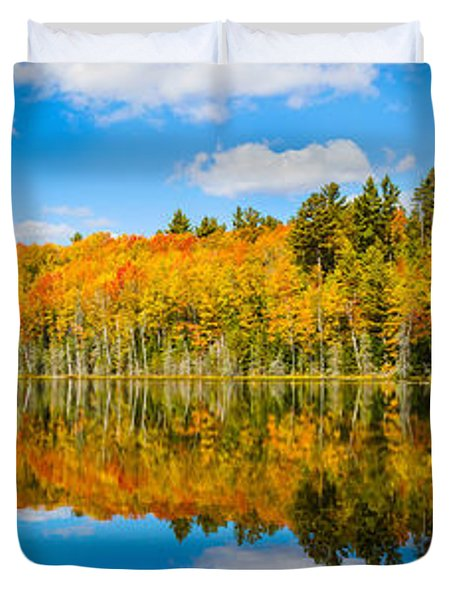 Reflection Of Trees In A Lake, Petes Duvet Cover