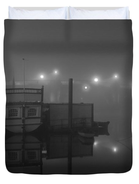 Reflection On Misty Thames  Duvet Cover