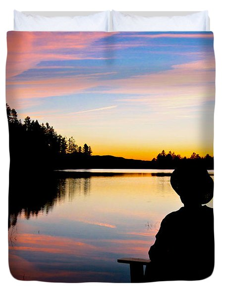 Reflection Reflection Duvet Cover by John Haldane