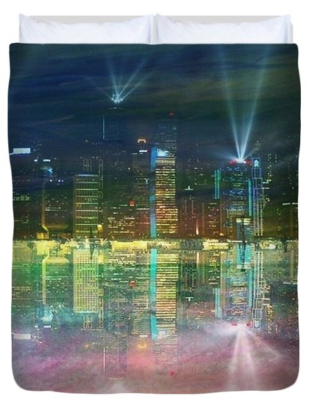 Reflection Water Skyline Duvet Cover by PainterArtist FIN