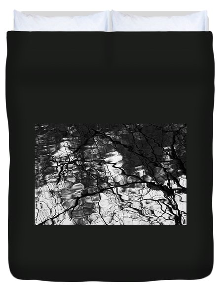 Duvet Cover featuring the photograph Reflection by Yulia Kazansky