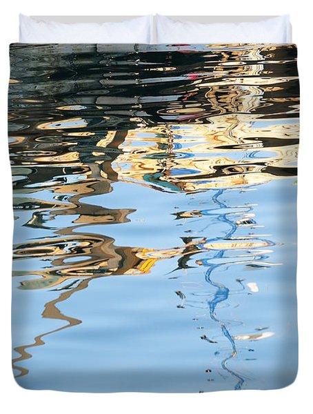 Reflections - White Duvet Cover