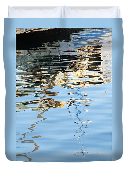 Reflections - White Duvet Cover