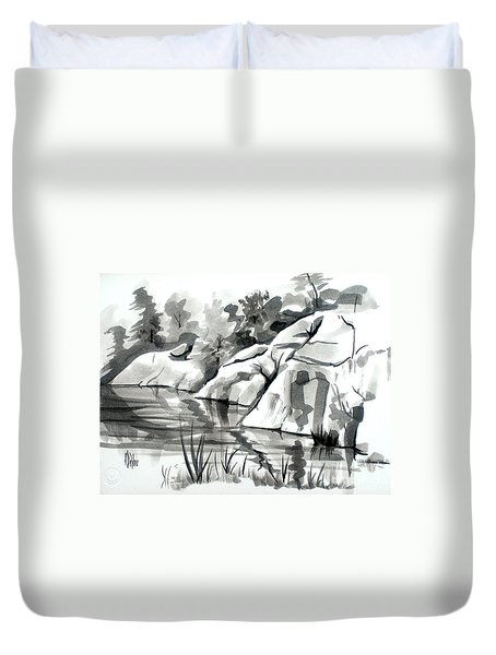 Reflections At Elephant Rocks State Park No I102 Duvet Cover by Kip DeVore