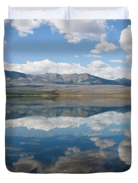 Reflections At Glacier National Park Duvet Cover