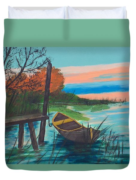 Reflections Duvet Cover by Cynthia Morgan
