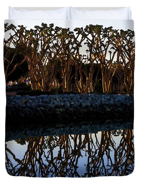 Duvet Cover featuring the photograph Reflections In First Light by Gary Holmes