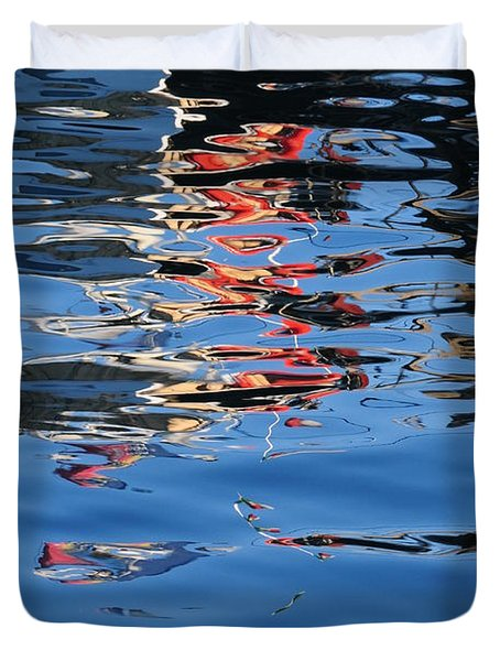 Reflections In Red Duvet Cover