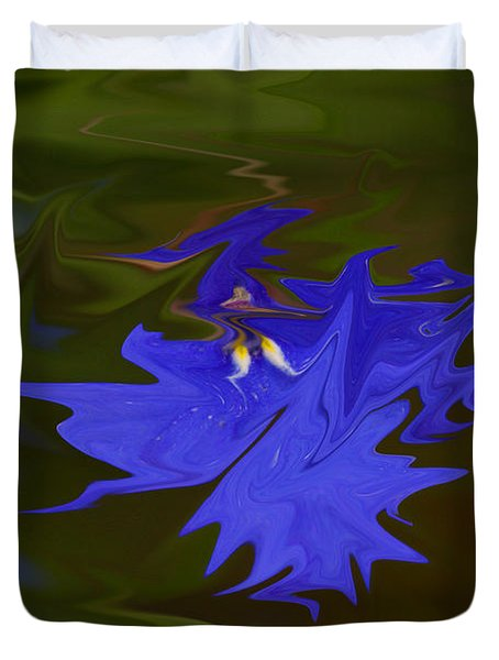 Reflections Of A Flower Duvet Cover by Carol Lynch