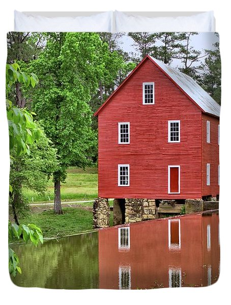 Reflections Of A Retired Grist Mill Duvet Cover