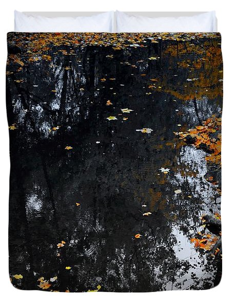 Duvet Cover featuring the photograph Reflections Of Autumn by Photographic Arts And Design Studio