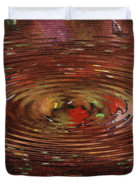 Reflections Of Christmas Duvet Cover by Wayne Cantrell