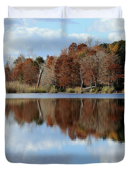 Duvet Cover featuring the photograph Reflections Of Color by Debra Forand
