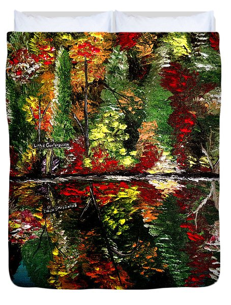 Reflections Of Fall Duvet Cover by Mark Moore