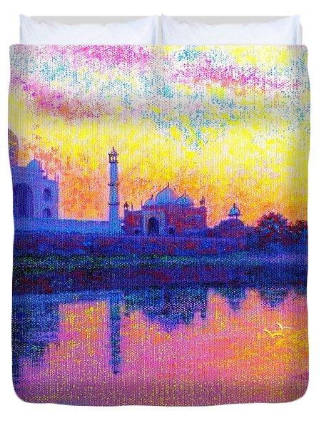 Taj Mahal, Reflections Of India Duvet Cover