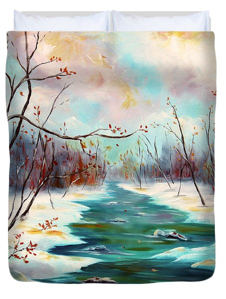 Reflections Of Worship Duvet Cover by Meaghan Troup