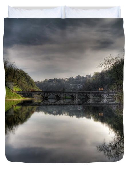 Reflections On Adda River Duvet Cover