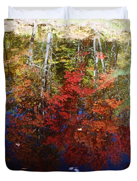 Duvet Cover featuring the photograph Reflections On Algonquin by David Porteus