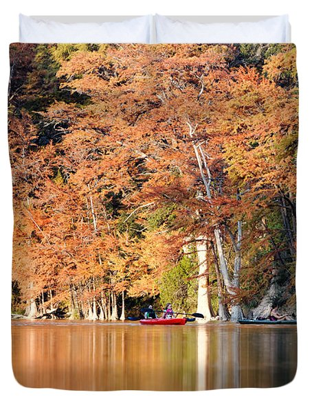 Reflections On The Frio River IIi Duvet Cover