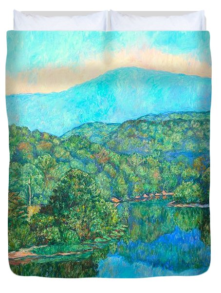 Reflections On The James River Duvet Cover