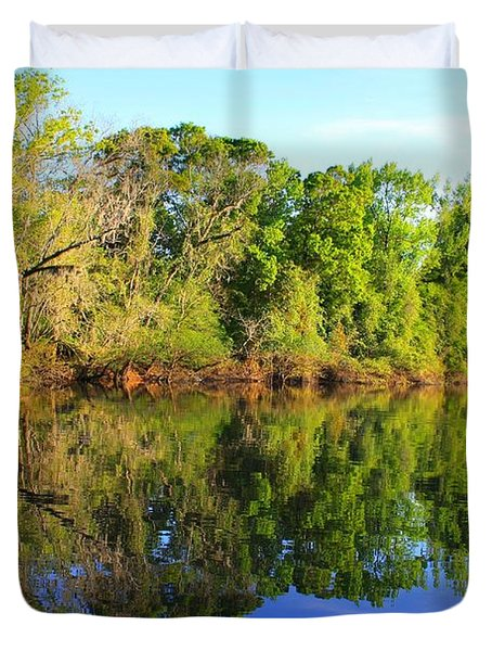 Reflections On The River Duvet Cover