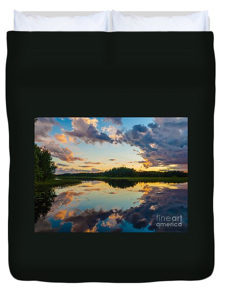 Reflections On The Water Duvet Cover