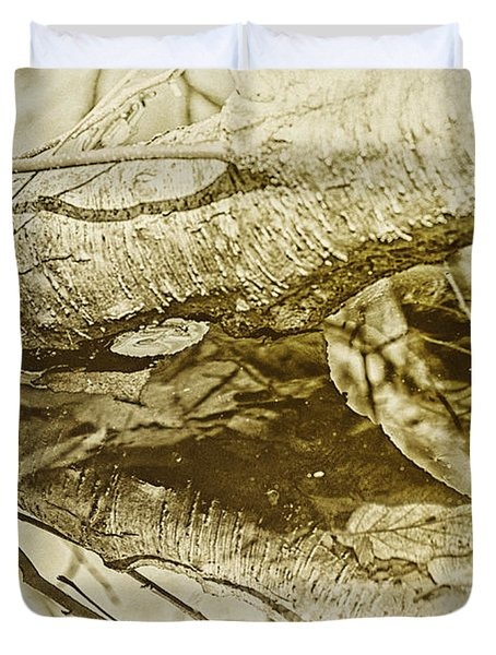 Reflective Birch Duvet Cover