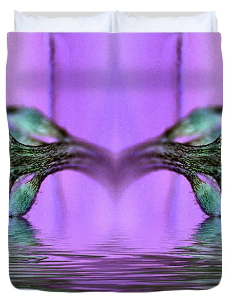 Reflective Consciousness Duvet Cover by WB Johnston