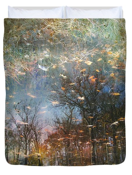 Duvet Cover featuring the photograph Reflective Waters by John Rivera
