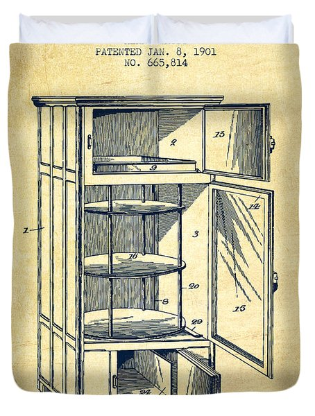 Refrigerator Patent From 1901 - Vintage Duvet Cover