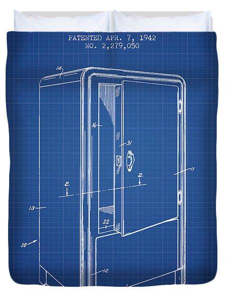 Refrigerator Patent From 1942 - Blueprint Duvet Cover