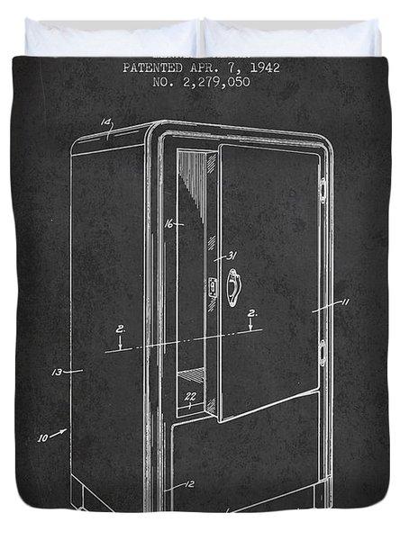 Refrigerator Patent From 1942 - Dark Duvet Cover