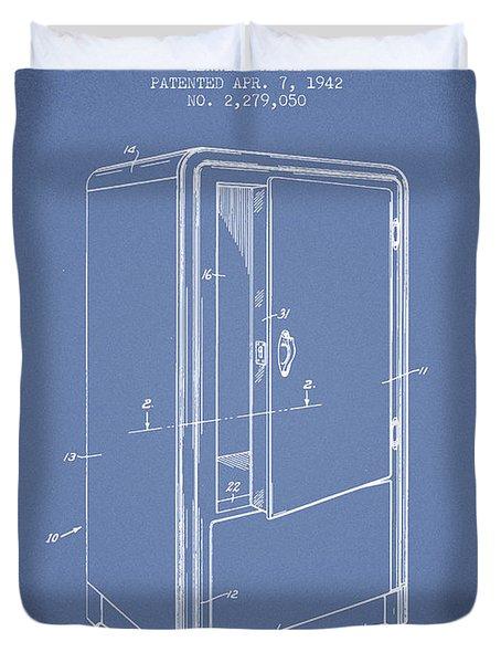 Refrigerator Patent From 1942 - Light Blue Duvet Cover