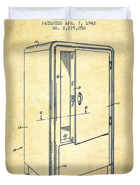 Refrigerator Patent From 1942 - Vintage Duvet Cover