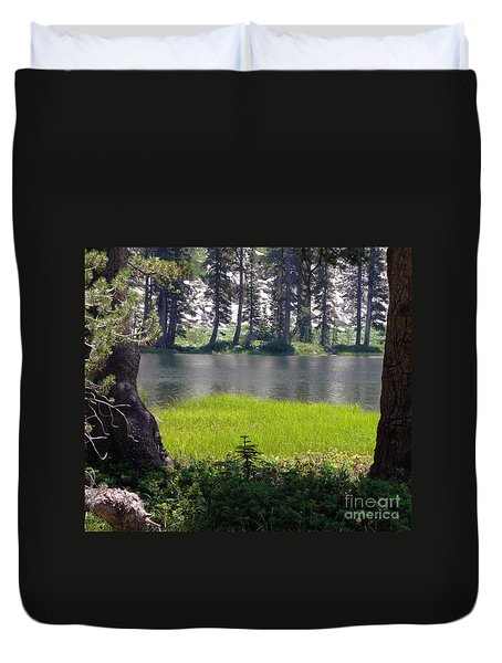 Refuge In The Mountains Duvet Cover